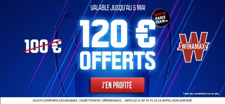 PSG-Lens: 120€ au lieu de 100€ offerts chez Winamax !