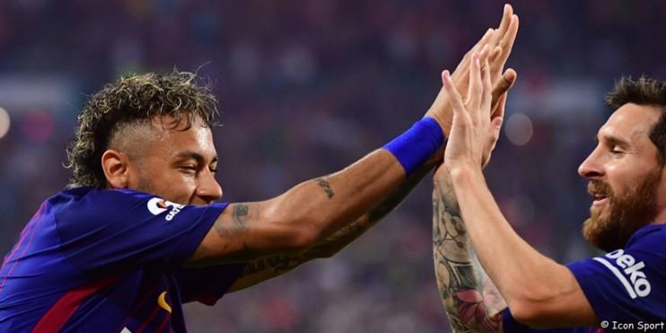 Messi, Neymar fait le forcing, un montage à la Beckham ?