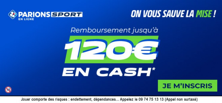 DERNIERS JOURS: 120€ offerts en CASH pour parier sur le PSG !
