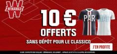 PSG-OM: 10€ offerts sans sortir la CB pour parier GRATOS !