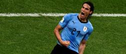 Le but de Cavani avec l'Uruguay contre l'Argentine de Paredes