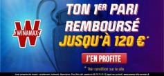 Avec Winamax, votre 1er pari de 120€ remboursé !